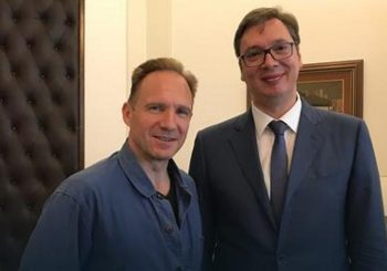 Glumac Ralf Fajns posjetio Vučića u Predsjedništvu