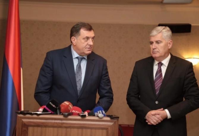 ČOVIĆ SA DODIKOM U MOSTARU: Formirati vlast na nivou BiH u narednih 15 - 20 dana