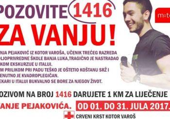 Budimo humani: Pozovite 1416 za pomoć u liječenju Vanje Pejakovića