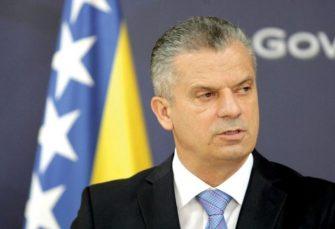 Tegeltija prihvatio ostavku Radončića na mjesto ministra bezbjednosti BiH