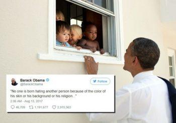 Obamin odgovor na nasilje u Šarlotsvilu je najpopularniji tvit u istoriji Tvitera