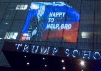 """Putin na fasadi Trumpovog hotela: """"Brate, drago mi je da sam pomogao"""""""