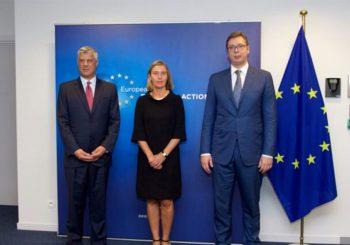 Vučić i Tači kod Mogerinijeve: Otvoreni razgovori o dugoročnijim odnosima Srba i Albanaca
