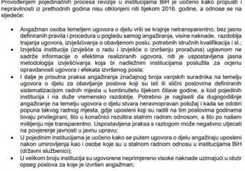 Institucije BiH troše javni novac masovnim kršenjem zakona