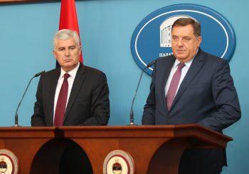 Dodik - Čović: Evidentna paraliza na nivou BiH, reformski procesi u zastoju