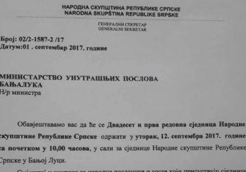 Ekskluzivno: Srpskainfo u posjedu poziva koji je iz Narodne skupštine upućen policiji