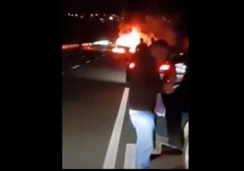 Zapalilo se vozilo iz pratnje Mila Đukanovića, u njemu bila municija