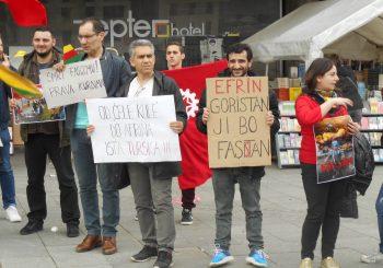 """NEOBIČAN SKUP U BANJALUCI """"Crveni"""" podržali borbu Kurda u Siriji protiv Turske"""