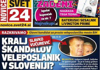 """Kralj skandala"": Slavko Vučurević na naslovnim stranama u Sloveniji"
