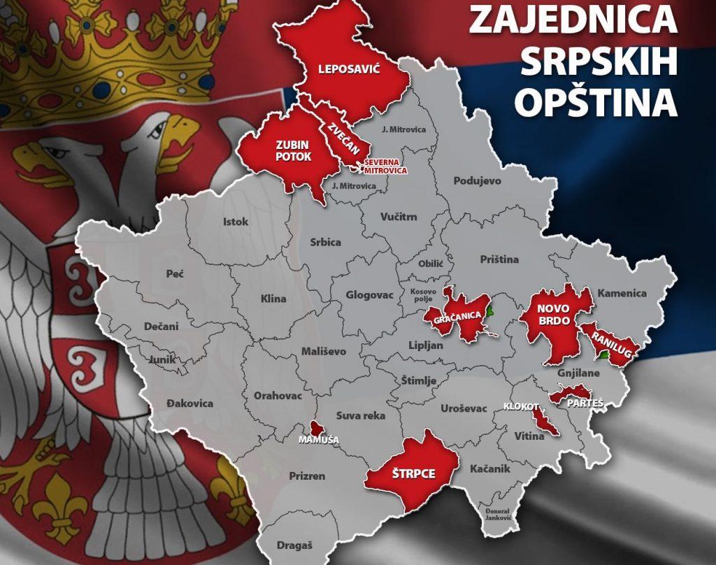 Сербские районы Косово