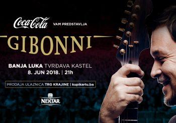 GIBONNI 8. JUNA U BANJALUCI Ulaznice za koncert na Kastelu u prodaji od 18. 4.