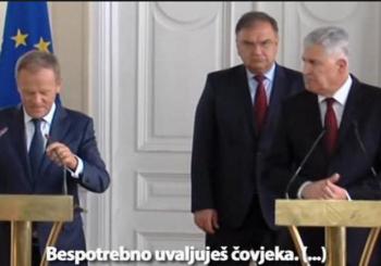 NEPRIMJERENO PONAŠANJE PRED TUSKOM Izetbegović i Čović opet se pobrinuli za skandal