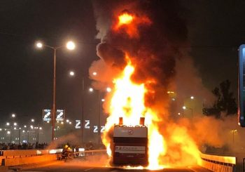 VATRENO Fudbalerima Zvezde zapalio se autobus dok su slavili titulu VIDEO