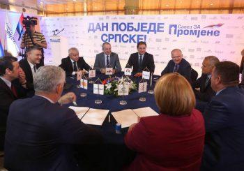 "POTPISALI SPORAZUM Devet stranaka iz SZP-a idu na izbore pod sloganom ""Dan pobjede Srpske"""
