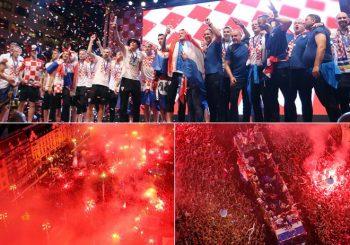EUFORIJA U ZAGREBU Reprezentaciju Hrvatske dočekalo više stotina hiljada ljudi
