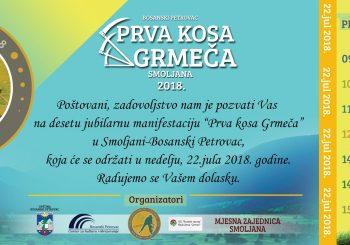 """""""PRVA KOSA GRMEČA"""" U Smoljanima kod Bosanskog Petrovca 22. jula """"Otkos mira i tolerancije"""""""