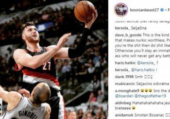 """NBA Nurkić razljutio fanove """"posvetom"""" Đinobiliju"""