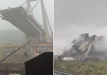 APOKALIPTIČNA SCENA Srušio se vijadukt u Đenovi, najmanje 22 mrtvih VIDEO