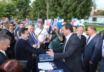 """""""SVIĆE"""" Lideri SZP-a počeli kampanju jutarnjim druženjem sa građanima u centru Banjaluke"""