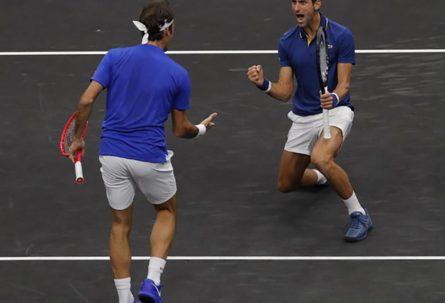PRVI PUT Đoković i Federer zajedno na terenu, ali ne kao protivnici, već tandem