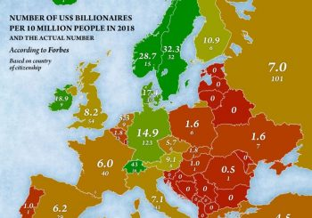 KAKVO JE STANJE NA BALKANU Karta milijardera u Evropi