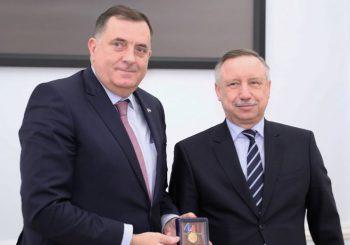 POSJETA RUSIJI Gubernator Sankt Peterburga odlikovao Dodika, razmotreni zajednički projekti