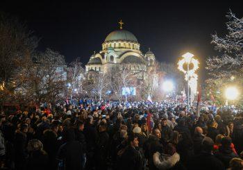 ZAVRŠENA POSJETA Putin pred više od 100.000 ljudi kod Hrama Svetog Save