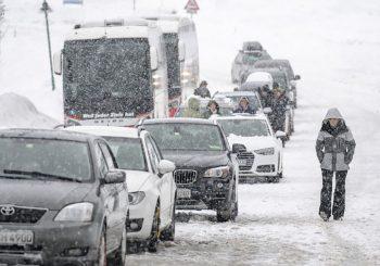 USPOREN SAOBRAĆAJ Zbog snježnih padavina i poledice poseban oprez na ovim putevima