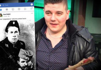 ZASTRAŠUJUĆA BOŽIĆNA ČESTITKA Sin HDZ-ovog zastupnika objavio sliku ustaše sa odrubljenom glavom Srbina