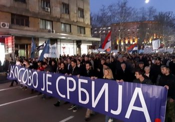 DSS MIMO SAVEZA ZA SRBIJU: Održan protest nacionalne opozicije zbog politike vlasti prema Kosovu