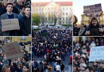 PROTEST U ZAGREBU: Studenti i profesori protiv počasnog doktorata Milanu Bandiću