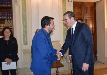 VUČIĆ U RIMU: Sa Salvinijem o odnosima Srbije i EU i relacijama Beograda i Prištine