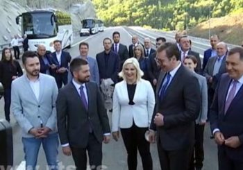 GRDELIČKA KLISURA: Vučić i Dodik obišli dionicu južnog kraka Koridora 10
