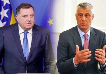 IZOSTALO RUKOVANJE: Pogledajte kako je izgledao susret Tačija i Dodika VIDEO