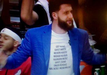 NBA I POLITIKA: Nurkić na utakmici u majici sa imenima devet vojnika Armije BiH, provocirao Jokića?