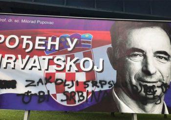 Na plakatu Pupovca ispisane do sada najmorbidnije poruke