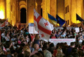 """TBILISI: Antiruski demonstranti napali parlament, predsjednica Gruzije ih nazvala """"petom kolonom Moskve"""""""