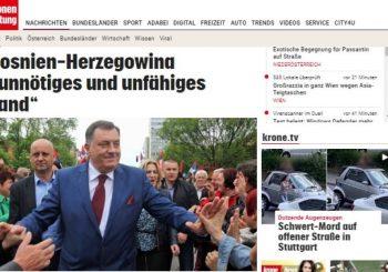 """ODJECI U AUSTRIJI: """"Kronen zeitung"""" prenosi ključne teze iz Dodikovog intervjua"""
