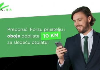 NOVO iz Forze: Preporuči servis prijatelju i oboje dobijate 10 KM bonusa!