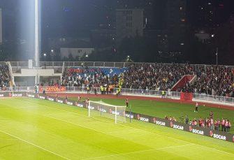 INCIDENT: Navijači Crne Gore sukobili se sa obezbjeđenjem na utakmici u Prištini