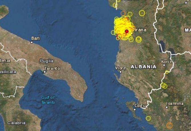 Dva potresa noćas pogodila Albaniju