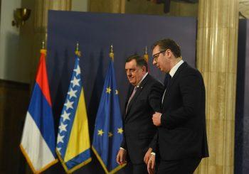 DODIK SA VUČIĆEM U BEOGRADU: Srbija će slijediti stav srpskog naroda u RS i BiH o Dejtonskom sporazumu