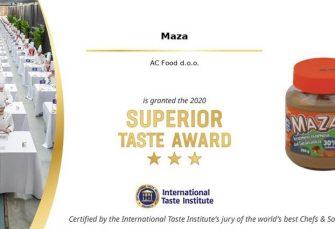Maza osvojila nagradu prestižnog Međunarodnog instituta za okus najboljih svjetskih kuhara i sommeliera