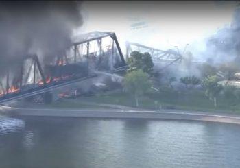 ARIZONA: Srušio se most, zapalio se voz (VIDEO)