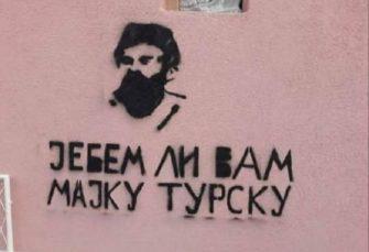 U Beranama osvanuli grafiti Pavla Đurišića i Draže Mihailovića sa govorom mržnje
