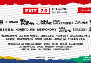 Sheck Wes, Kalkbrenner, Nina, Honey Dijon i Solomun pojačavaju veliku proslavu 20. godišnjice EXIT festivala