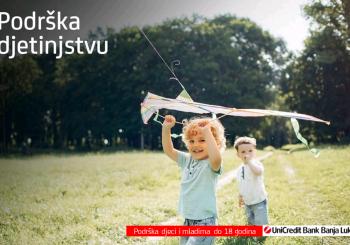 UniCredit Fondacija i UniCredit u BiH kroz javni poziv Podrška djetinjstvu doniraće 30.000 EUR neprofitnim organizacijama