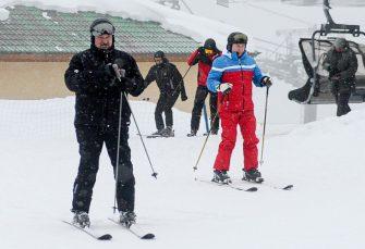 PUTIN I LUKAŠENKO U SOČIJU: Nakon dugih razgovora o savezništvu, zajedno na skijanju