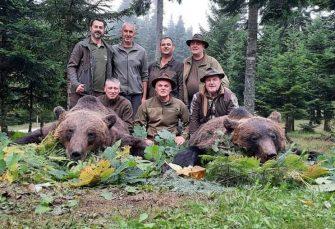 """Privredno lovište """"Lom"""" Drinić: Za jednu noć odstrijeljena  dva kapitalna medvjeda"""